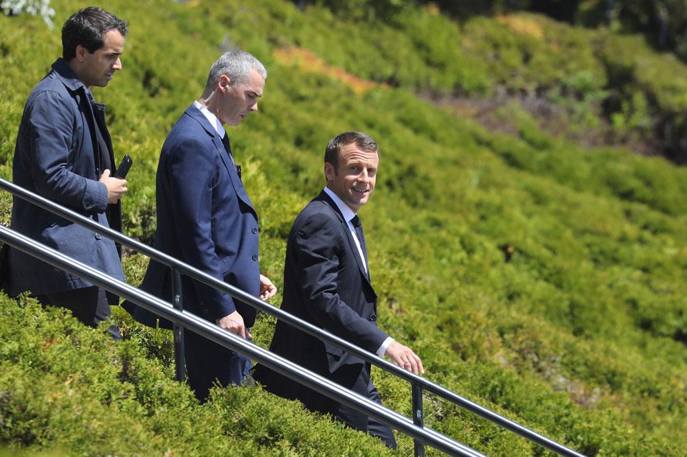 Emmanuel Macron au sommet du G7 de Charlevoix, au Canada, le 8 juin 2018.