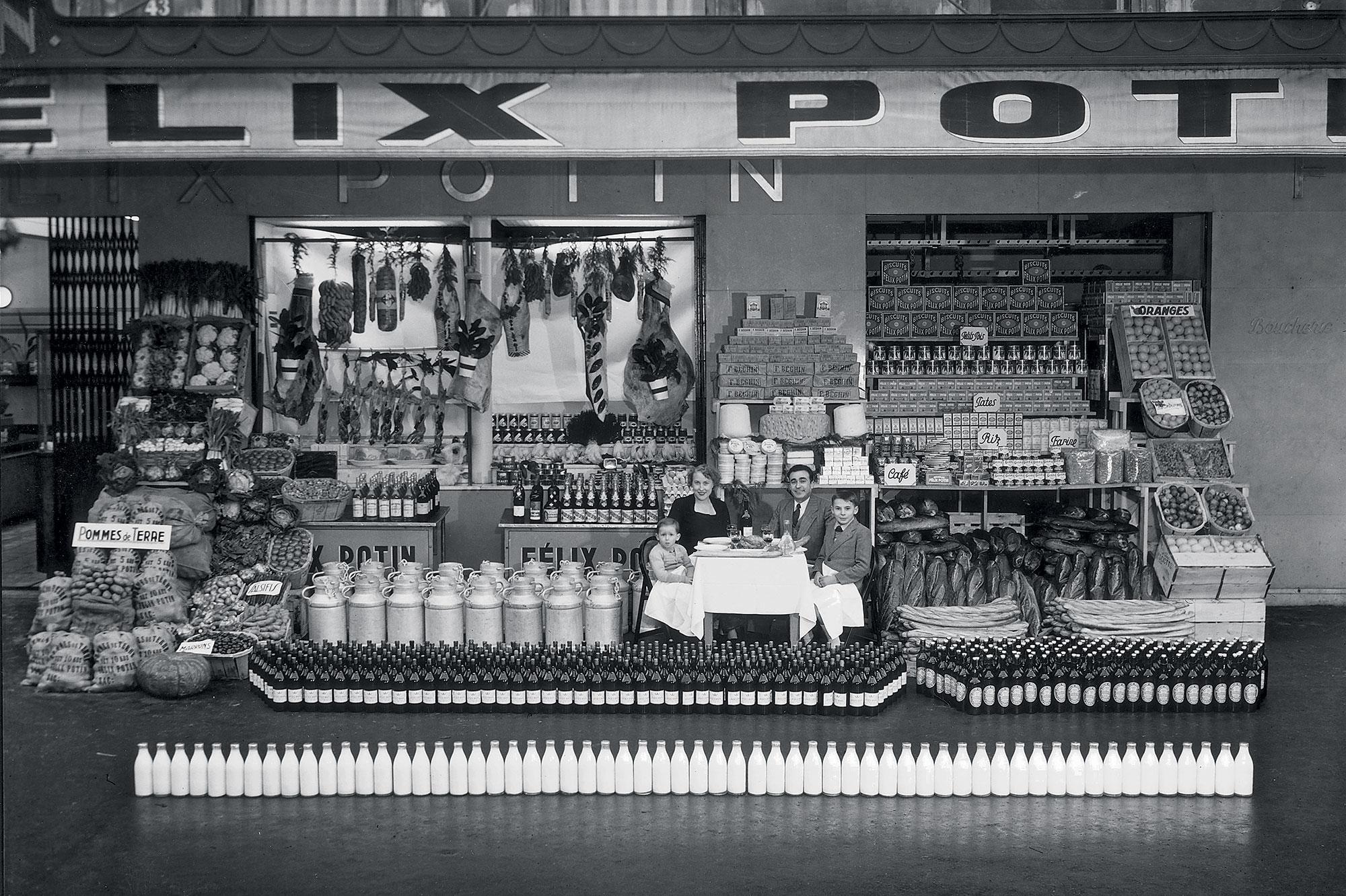 Un an de consommation d'une famille française en 1952