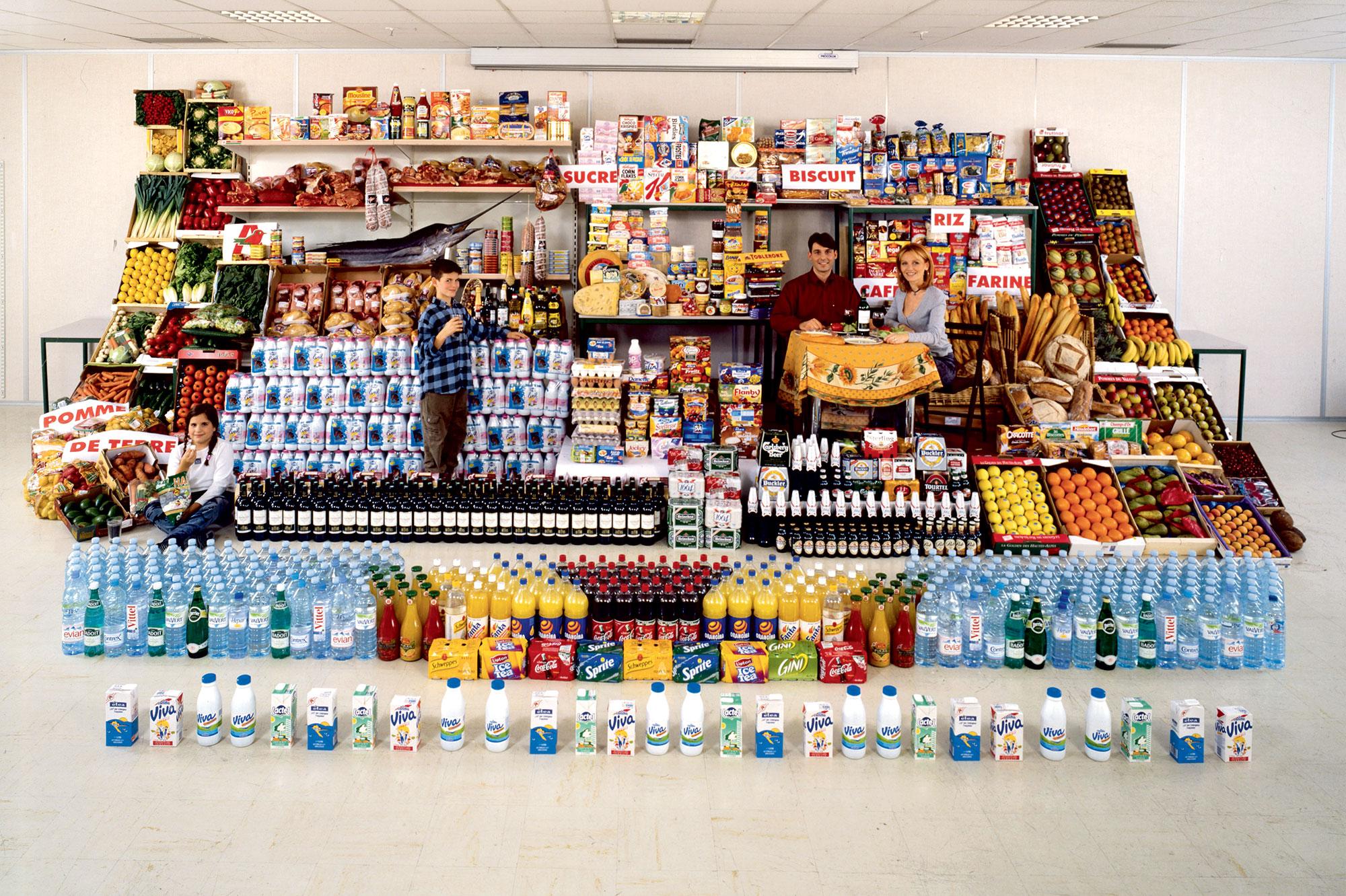 Un an de consommation d'une famille française en 1999