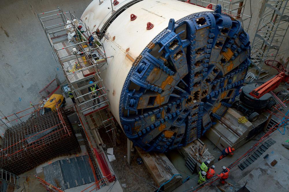 Tunnelier à Vitry-sur-Seine