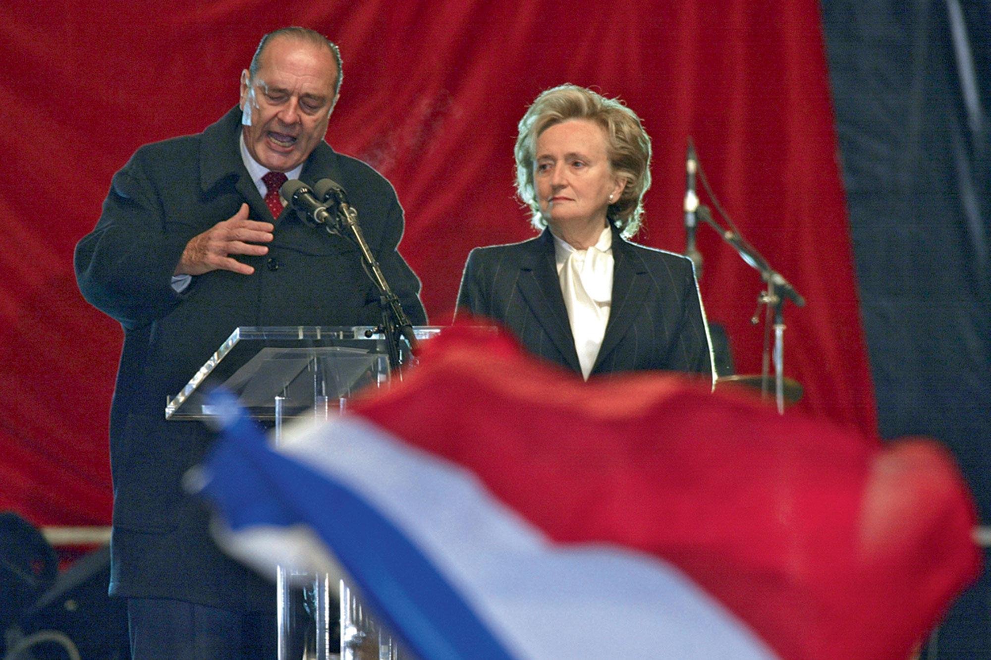 Jacques et Bernadette Chirac en 2002