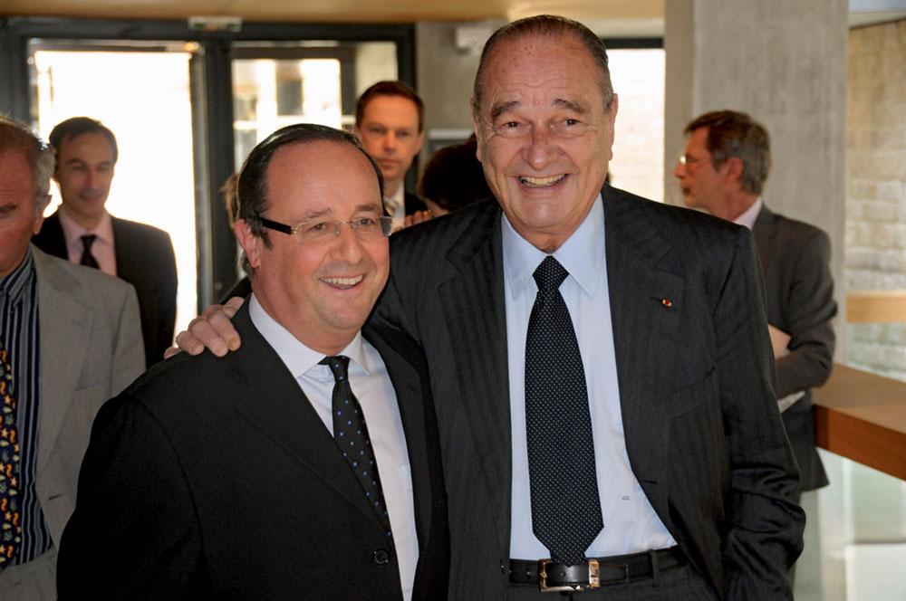 François Hollande et Jacques Chirac